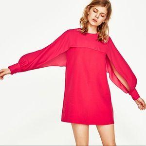 ZARA Slit-sleeve dress